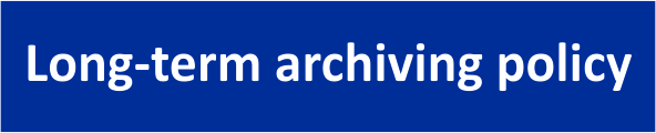 Long-term archiving policy